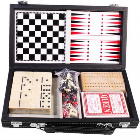Набор настольныx игр 6 в 1 Duke MUT06004 в кейсе