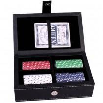 Покерный набор Duke PATF001 в черном кожаном кейсе