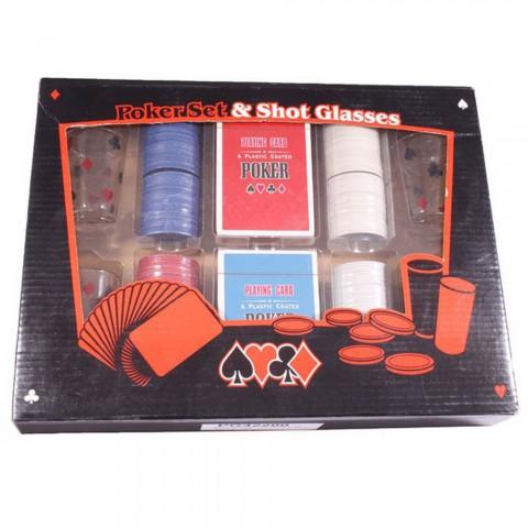 Набор для игры PG42200 в пьяный покер Duke 200 фишек и 4 рюмки