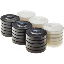 Шашки для игры в нарды black & white 36x6 мм