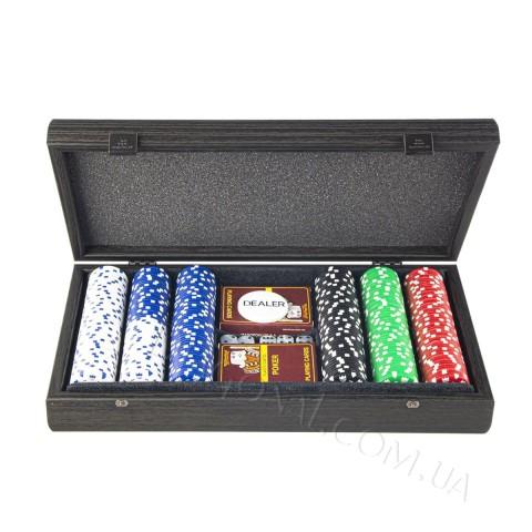 Набор для покера в деревянном футляре 39x22 см