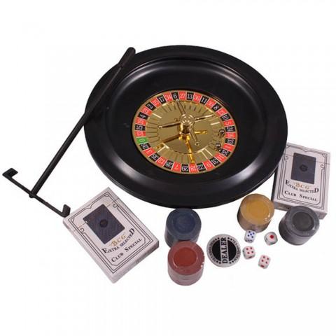 Игровой набор Duke 5 в 1 рулетка, покер, блекджек, кости, покер Лас-Вегас