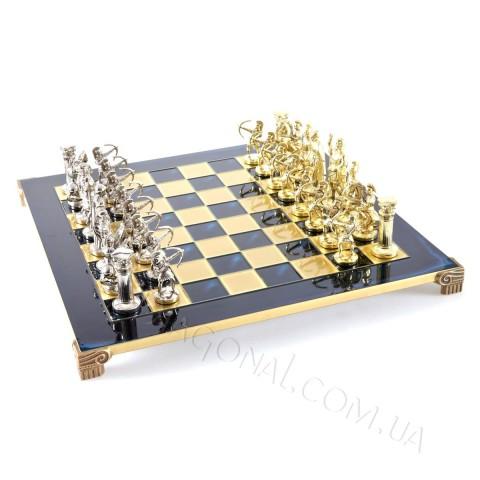 Эксклюзивные шахматы Manopoulos S10BLU Греко-римская война синие 44х44 см