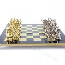 Набор дизайнерских шахмат лучники латунь бронза 44x44 см
