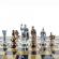 Шахматы Греко-римские, латунь, в деревянном футляре S11BBLU 44x44 см