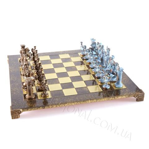 Шахматы Manopoulos греко римская война латунь бронза 44x44 см