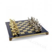 Шахматы подарочные Manopoulos Греко-римские синие 44х44 см