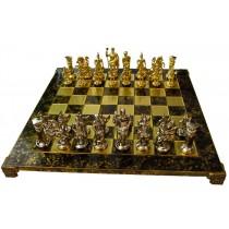 Красивые шахматы Manopoulos Греко-римские коричневые 44х44 см