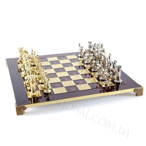 Шахматы эксклюзивные Manopoulos S11RED Греко-римские красные 44х44 см