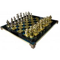Шахматы эксклюзивные Manopoulos S12BLU Мушкетеры синие 44х44 см