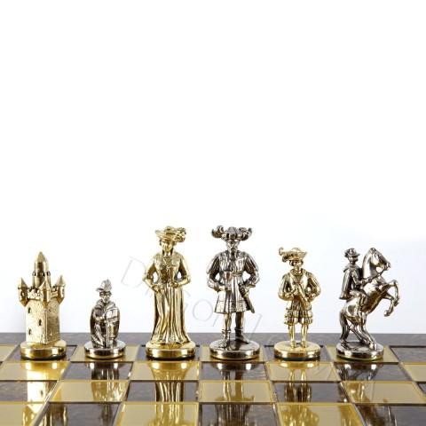Шахматный набор Мушкетеры, в деревянном футляре S12RED 44x44 см