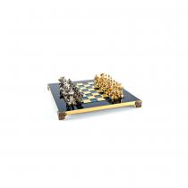 Шахматы Manopoulos Спартанский воин синие  28x28 см S16BLU