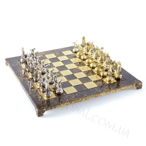 Необычный шахматный набор Дискобол коричневые 54x54 см