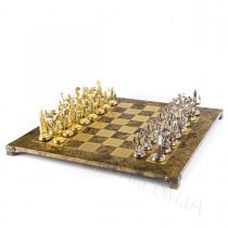 Коричневый шахматы Manopoulos S19BRO Троянская война 54x54 см