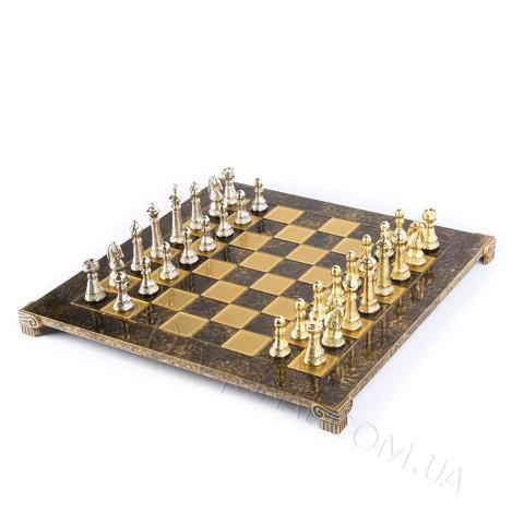 Шахматы в деревянном футляре коричневые классика 44x44 см