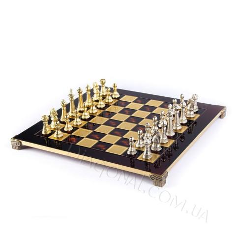 Шахматы подарочные в деревянном футляре красные фигуры классические 44x44 см