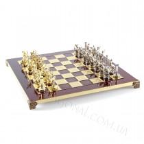 Подарочные шахматы Manopoulos Греческая мифология в деревянном чехле красные 36x36 см