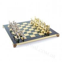 Уникальные шахматы дискобол в деревянном футляре зеленые 36x36 см