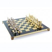 Зеленые подарочные шахматы Manopoulos S7GREEN Геркулес и Полубоги Олимпа 36x36 см