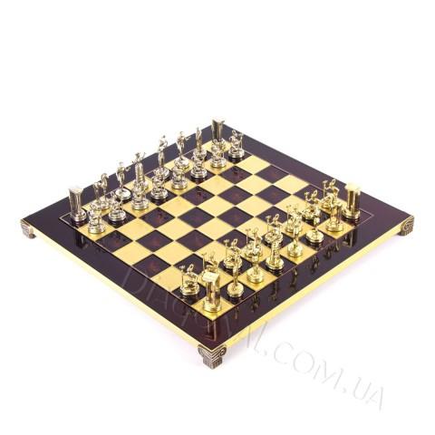 Шахматы минойский воин в деревянном футляре Красные 36x36 см