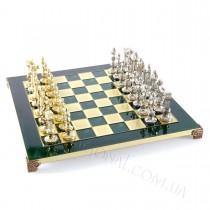 Шахматы Ренессанс в деревянном футляре зеленые 36x36 см