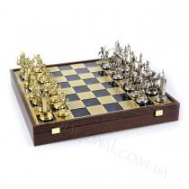 Набор шахмат в деревянном чехле Manopoulos SK19BLU Греческая мифология синие 54x54 см