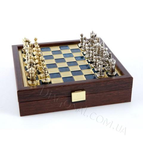 Шахматы дорожные Manopoulos SK1BLU Византийская империя 20х20 см синие
