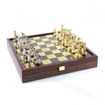 Шахматы подарочные коричневые Manopoulos SK4BRO Троянская война 36х36 см