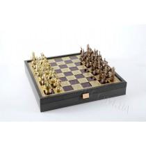 Шахматы греческая мифология в деревянном футляре красные 34x34 см