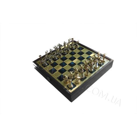 Шахматы Manopoulos в деревянном чехле SK5BLU Греческая мифология 34x34 см