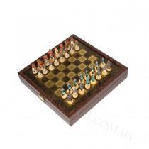 Необычные шахматы в виде китайских самураев 26x26 см