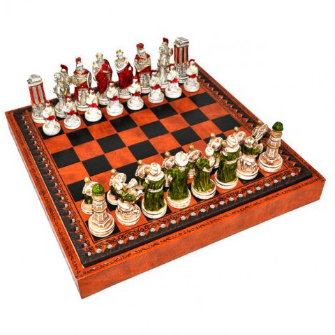 Фигуры шахматные Nigri Scacchi Александр Македонский extra small size