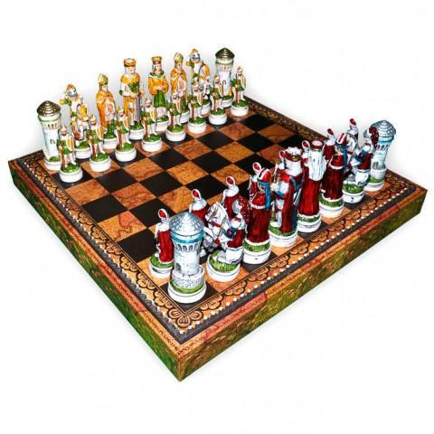 Фигуры шахматные Nigri Scacchi Средневековый рыцарский турнир big size