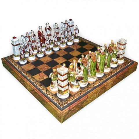 Шахматные фигуры Nigri Scacchi Бой римлян с варварами big size