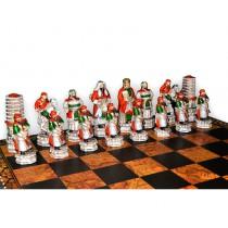 Шахматные фигуры Nigri Scacchi Китайско-монгольское завоевание medium size