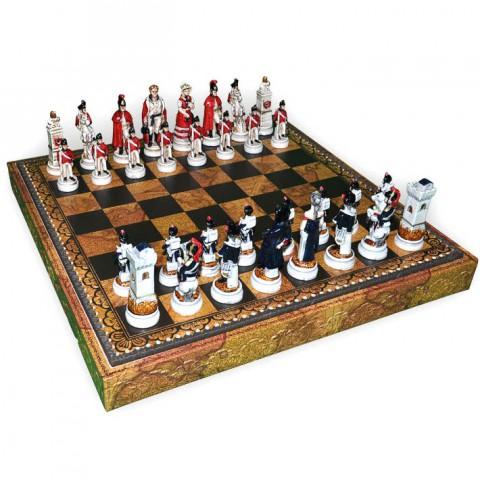Фигуры шахматные Nigri Scacchi Битва при Ватерлоо medium size