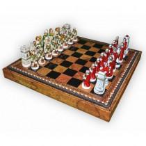 Фигуры шахматные Nigri Scacchi Бой римлян с варварами small size