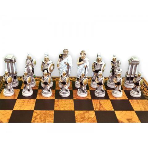 Фигуры шахматные Nigri Scacchi Троянская битва medium size