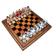 Шахматные фигуры Nigri Scacchi Троянская битва small size