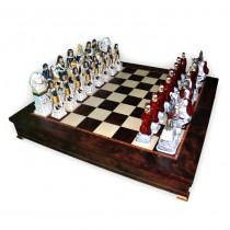 Фигуры шахматные Nigri Scacchi Римляне и египтяне extra size