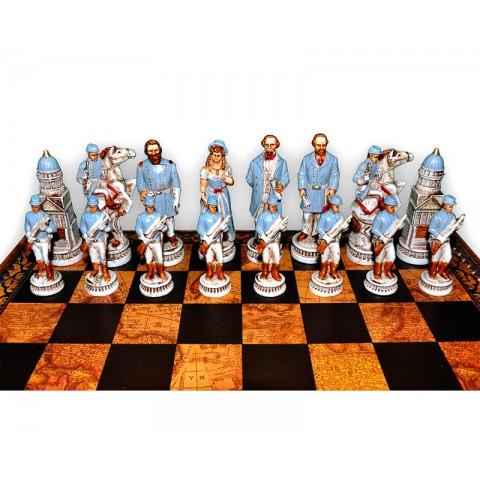 Фигуры шахматные Nigri Scacchi Битва при Геттисберге medium size