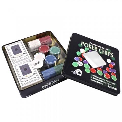 Настольный покер в оловянном кейсе Duke TC04101N на 100 фишек