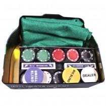 Набор для игры в покер Duke TC04201C в оловянном кейсе 200 фишек