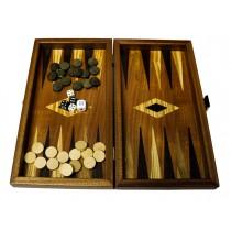 Набор нарды с шахматным полем Manopoulos TS3M махагон 30х27 см